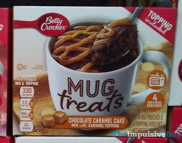 Betty Crocker Chocolate Caramel Cake Mug Treats