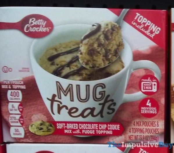 Betty Crocker Soft Baked Chocolate chip Cookie Mug Treats
