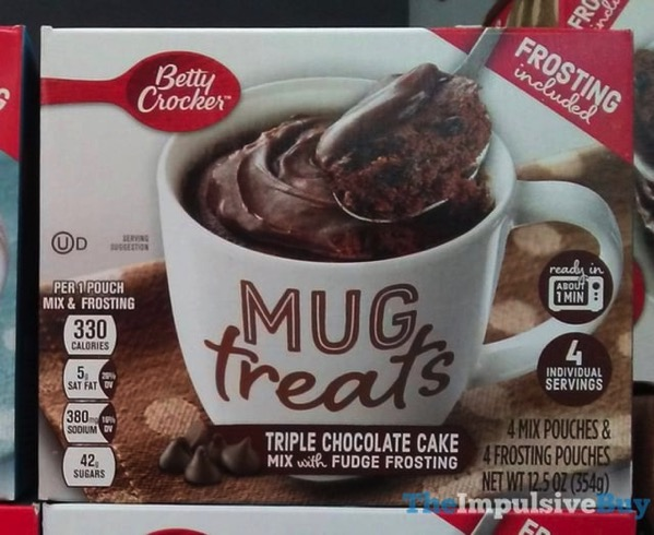 Betty Crocker Triple Chocolate Cake Mug Treats