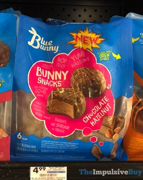 Blue Bunny Bunny Snacks Chocolate Hazelnut