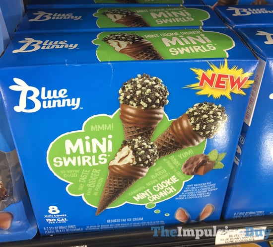 Blue Bunny Mini Swirls Mint Cookie Crunch
