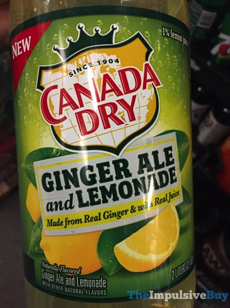 Canada Dry Ginger Ale and Lemonade 2 Liter jpg