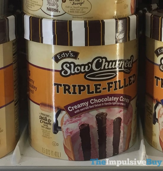Edy s Slow Churned Triple Filled Creamy Chocolatey Cores Ice Cream