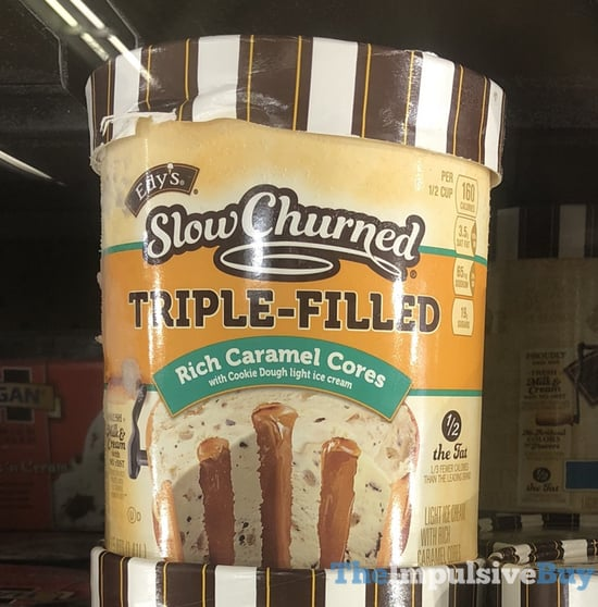 Edy s Slow Churned Triple Filled Rich Caramel Cores Ice Cream