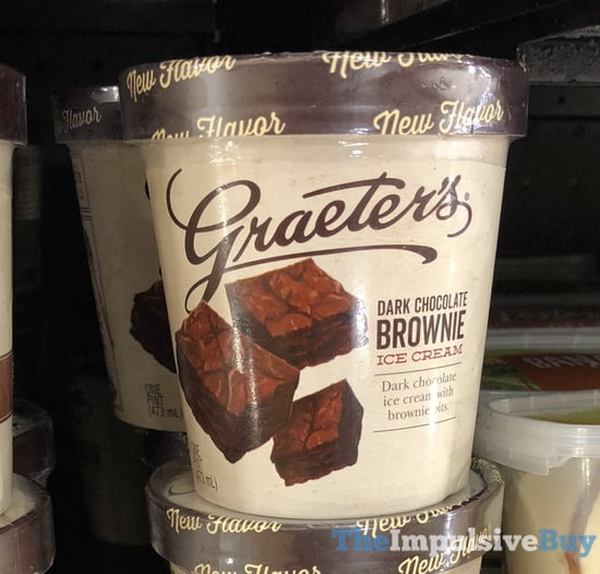 Graeter s Dark Chocolate Brownie Ice Cream
