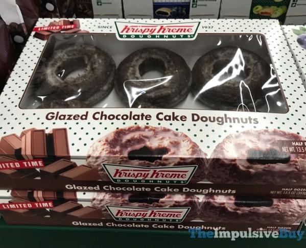 Krispy Kreme Limited Time Glazed Chocolate Cake Doughnuts