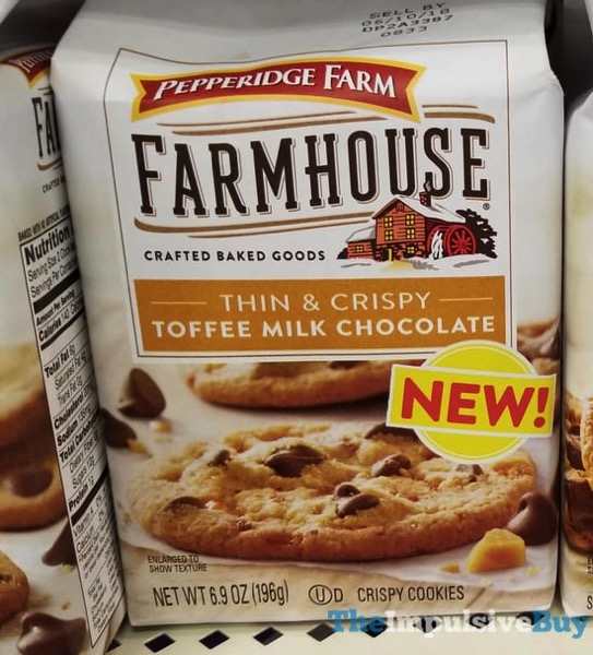 Pepperidge Farm Farmhouse Thin  Crispy Toffee Milk Chocolate Cookies