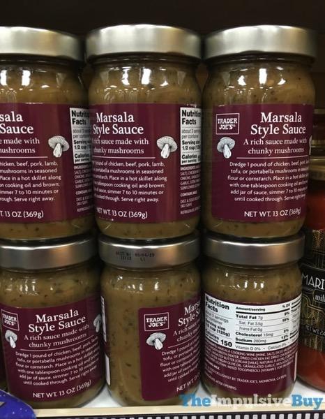 Trader Joe s Marsala Style Sauce