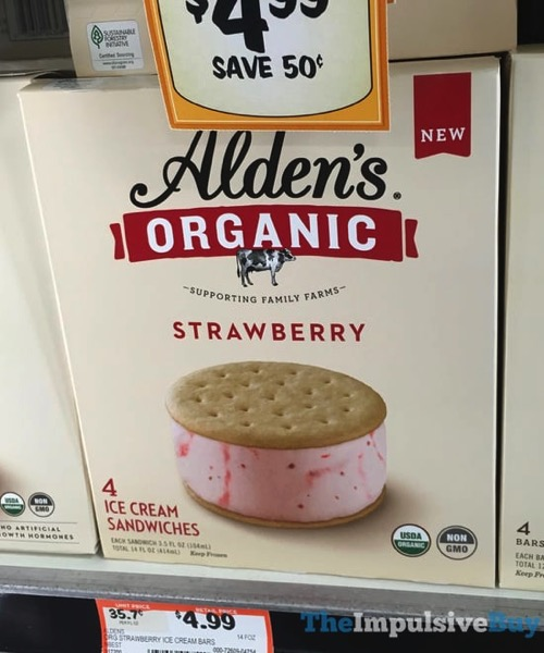 Alden s Organic Strawberry Ice Cream Sandwiches