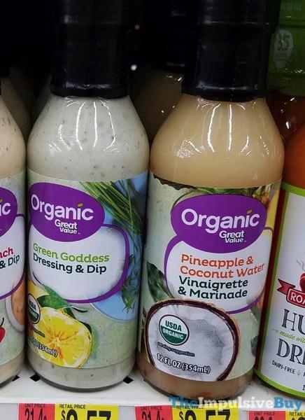 Great Value Organic Green Goddess Dressing  Dip and Pineapple  Coconut Water Vinaigrette  Marinade
