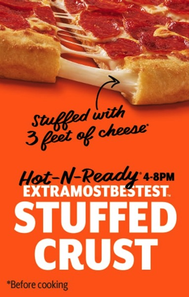 Little Caesars Extramostbestest Stuffed Crust Pizza