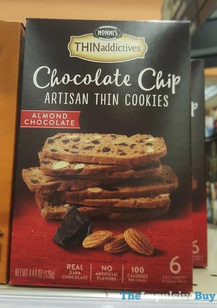 Nonni s Thinaddictives Almond Chocolate Chocolate Chip Artisan Thin Cookies