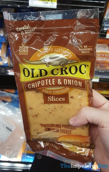 Old Croc Chipotle  Onion Aged Cheddar Slices