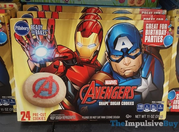 Pillsbury Marvel Avengers Shape Sugar Cookies