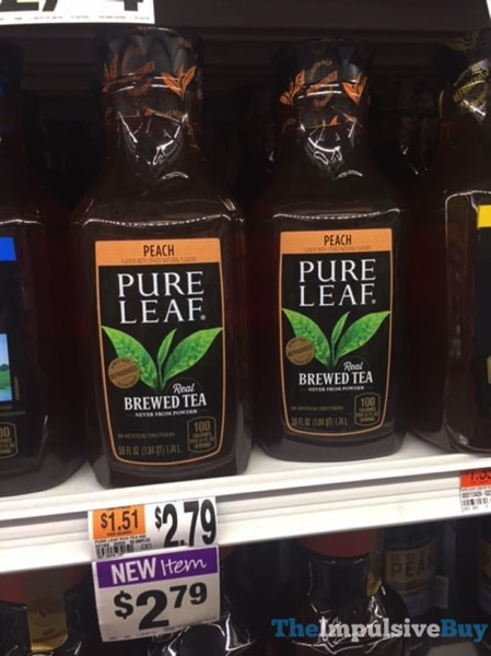 Pure Leaf Peach Real Brewed Tea 59 oz bottle 2018 Blaire Giant