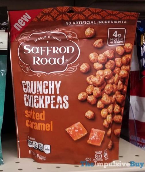 Saffron Roast Salted Caramel Crunchy Chickpeas