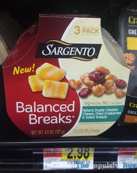 Sargento Balanced Breaks Double Cheddar Cheese Dried Cranberries  Salted Walnuts