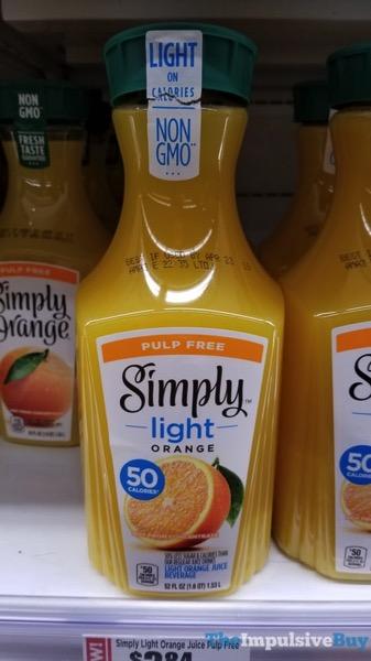 Simply Light Orange Juice Beverage Pulp Free