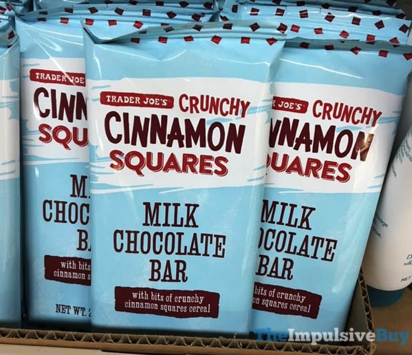 Trader Joe s Crunchy Cinnamon Squares Milk Chocolate Bar