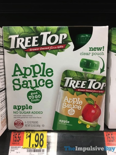 Tree Top Apple Sauce in Clear Pouch