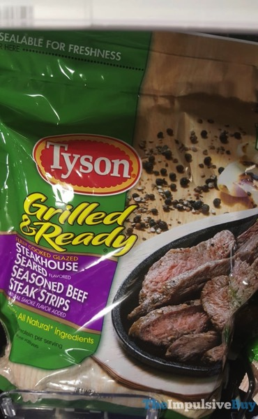Tyson Grilled  Ready Steakhouse Seared Seasoned Beef Steak Strips