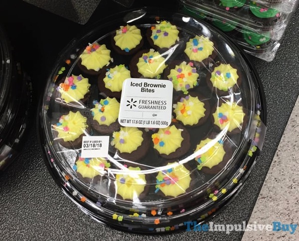 Walmart Spring Iced Brownie Bites