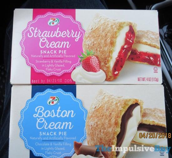 7 Select Strawberry Cream and Boston Cream Snack Pies