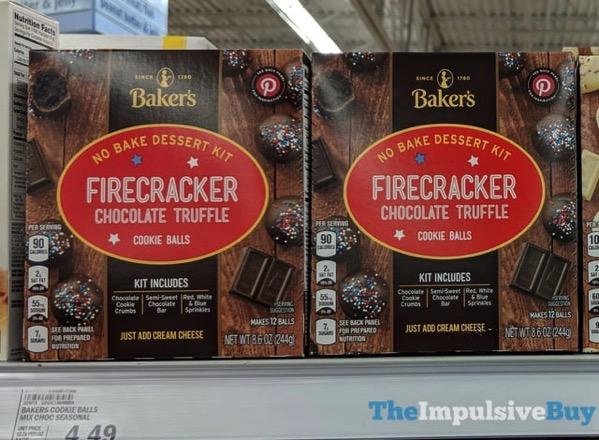 Baker s Firecracker Chocolate Truffle Cookie Balls No Bake Dessert Kit