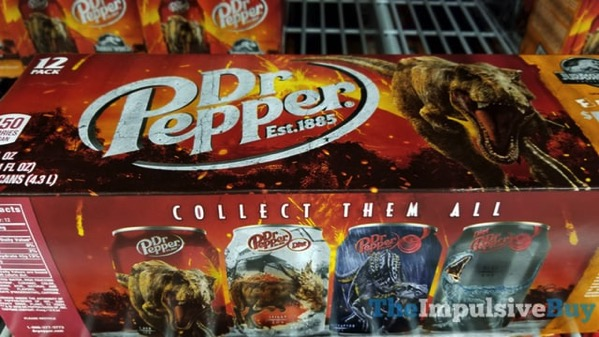 Dr Pepper Limited Edition Jurassic World Collectors Cans