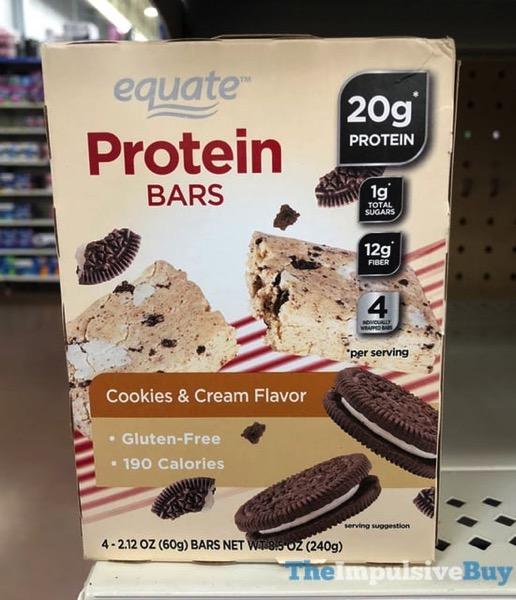 Equate Cookies  Cream Protein Bars