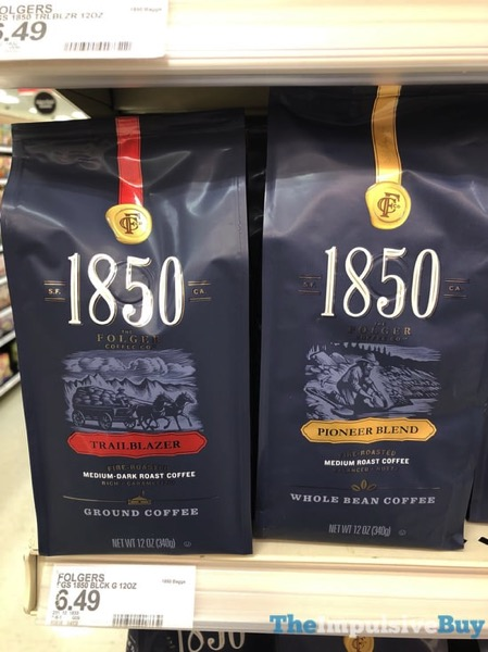 Folders 1850 Trail Blazer Ground Coffee and Pioneer Blend Whole Bean Coffee