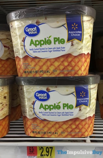 Great Value Associates Choice Apple Pie Ice Cream
