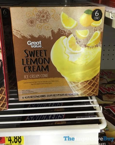 Great Value Sweet Lemon Cream Ice Cream Cone