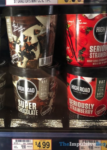 High Road Super Chocolate and Seriously Strawberry Luxury Ice Cream