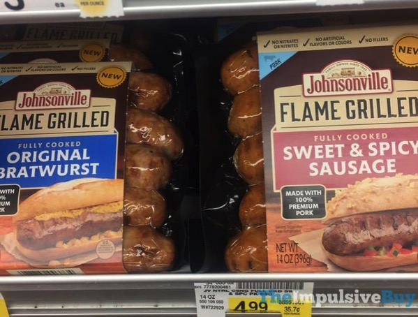 Johnsonville Flame Grilled Original Bratwurst and Sweet  Spicy Sausage