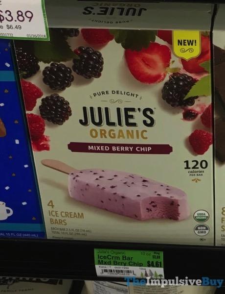 Julie s Organic Mixed Berry Chip Ice Cream Bars