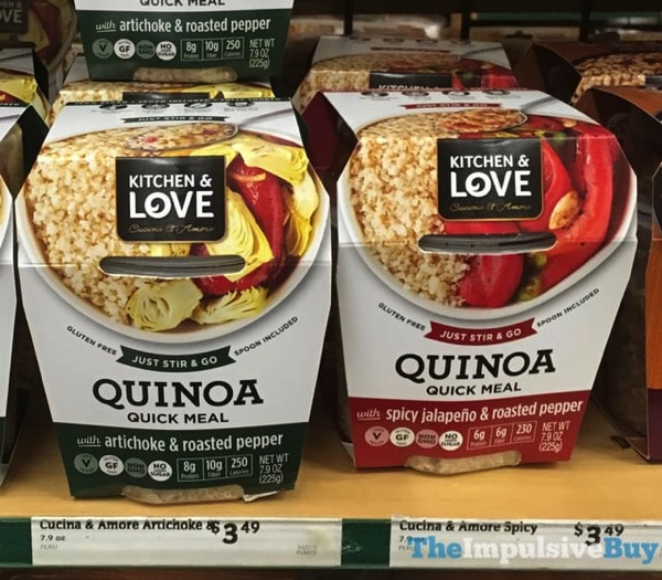 Kitchen  Love Quinoa Quick Meals  Artichoke  Roasted Pepper and Spicy Jalapeno  Roasted Pepper