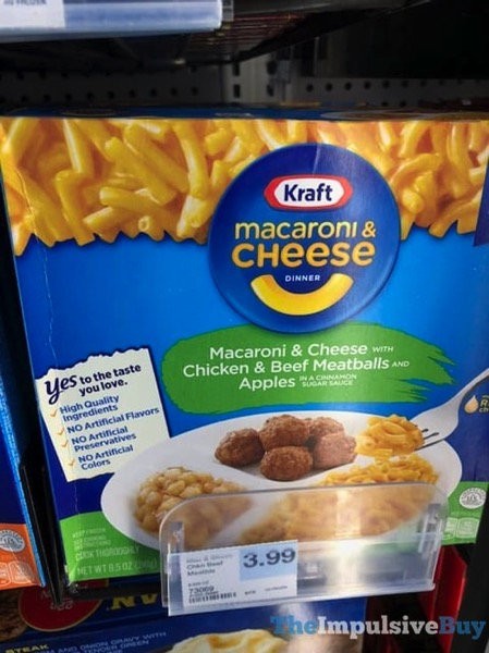Kraft Macaroni  Cheese with Chicken  Beef Meatballs and Apples