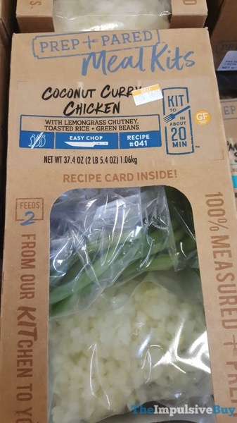 Kroger Prep+Pared Meal Kits Coconut Curry Chicken