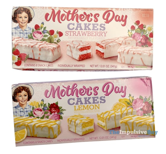Little Debbie Mother s Day Cakes  Strawberry and Lemon