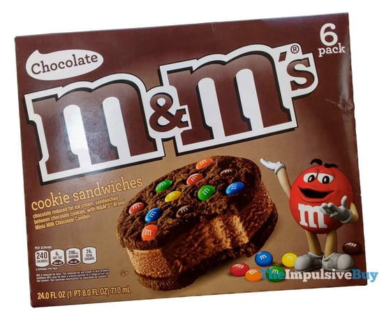 M M s Chocolate Ice Cream Sandwiches
