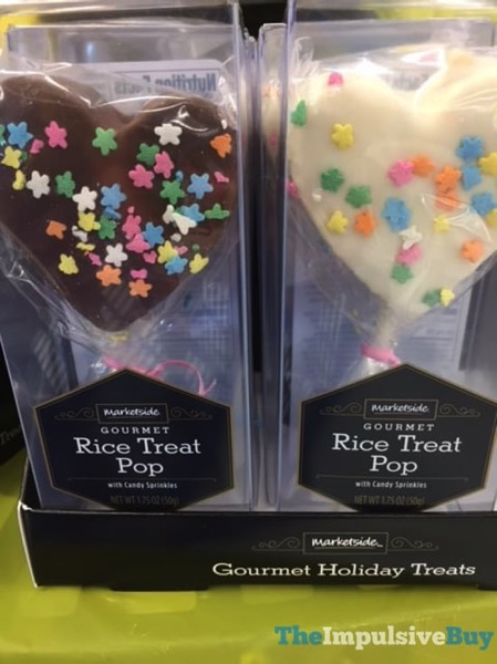 Marketside Heart Shaped with Star Sprinkles Gourmet Rice Treat Pop