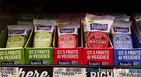 Naked Fruit Net  Veggie Bars  Green Machine Red Machine and Blue Machine