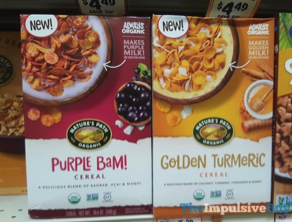 Nature s Path Purple Bam and Golden Turmeric Cereals