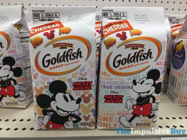 Pepperidge Farm Special Edition Mickey Mouse Goldfish Crackers