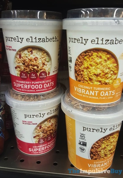 Purely Elizabeth Cranberry Pumpkin Seed Superfood Oats and Coconut Turmeric Vibrant Oats