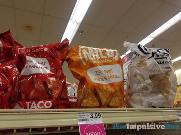 Taco Bell Tortilla Chips  Hot Mild and Classic