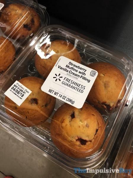 Walmart Strawberry Muffins with Vanilla Cream Filling
