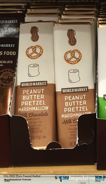 World Market Peanut Butter Prretzel Marshmallow Milk Chocolate Bar