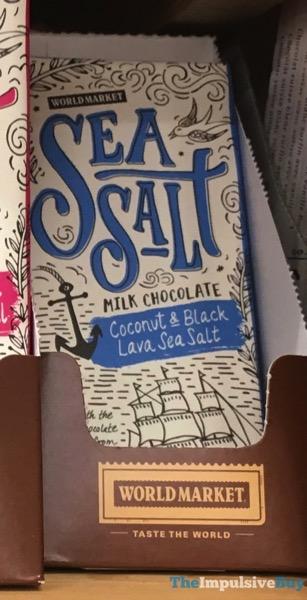 World Market Sea Salt Milk Chocolate Coconut  Black Lava Sea Salt Bar
